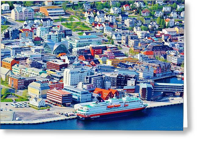 21st Greeting Cards - Vibrant Tromso Greeting Card by David Broome