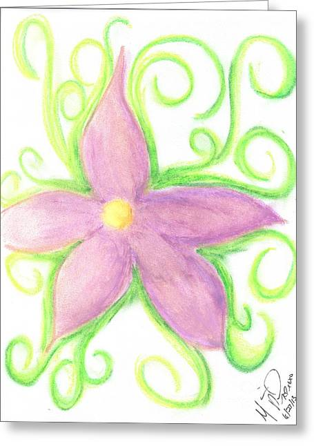 Vibrant Green Pastels Greeting Cards - Vibrant Vines Greeting Card by Marie De Garo