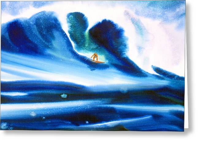 Surfing Art Greeting Cards - Vibration Of Youth #2 Greeting Card by John YATO