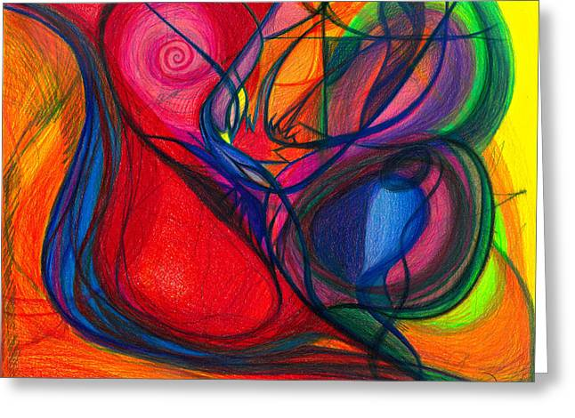Vibrational Heart Healing - Sounds of Radiant Joy ' Purity of Heart ' Soul ' Mind and Body Aligned Greeting Card by Daina White