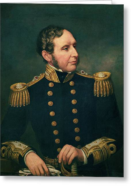 Expedition Greeting Cards - Vice Admiral Robert Fitzroy 1805-65 Admiral Fitzroy Led The Expedition To South America 1834-36 Greeting Card by Samuel Lane