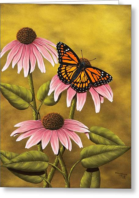 Coneflower Greeting Cards - Viceroy Greeting Card by Rick Bainbridge