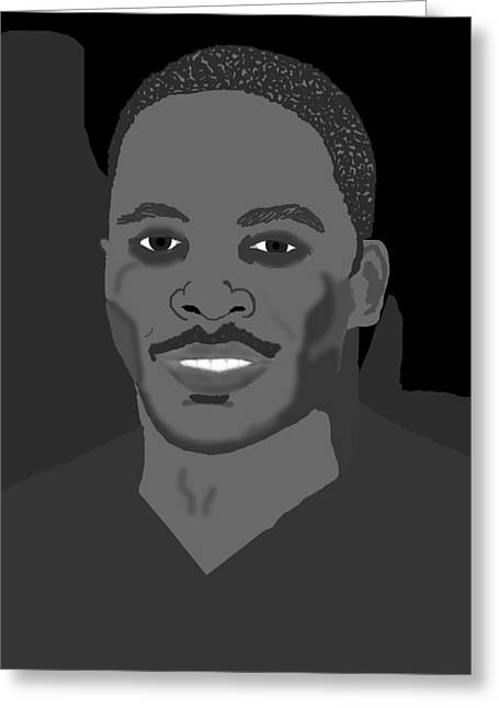 African American Men Drawings Greeting Cards - Vicktor Greeting Card by Pharris Art