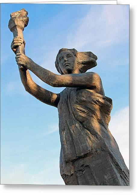 Lady Washington Greeting Cards - Victims Of Communism Memorial Greeting Card by Cora Wandel