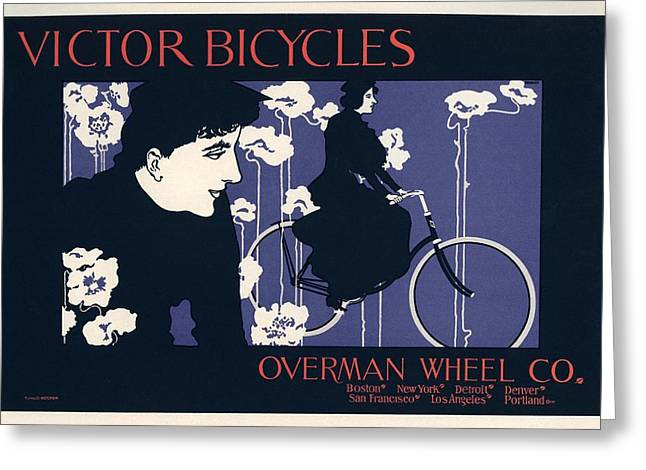 Belle Epoque Greeting Cards - Victor Bicycles Greeting Card by Gianfranco Weiss