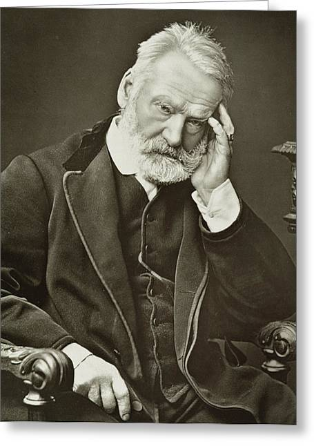 Famous Photographers Greeting Cards - Victor Hugo Greeting Card by French Photographer