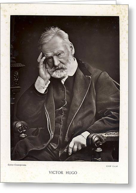 Historical Images Greeting Cards - Victor Hugo Greeting Card by Mary Evans