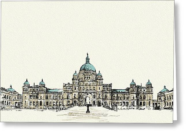 British Columbia Greeting Cards - Victoria Art 004 Greeting Card by Catf