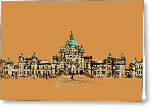 British Columbia Greeting Cards - Victoria Art 005 Greeting Card by Catf