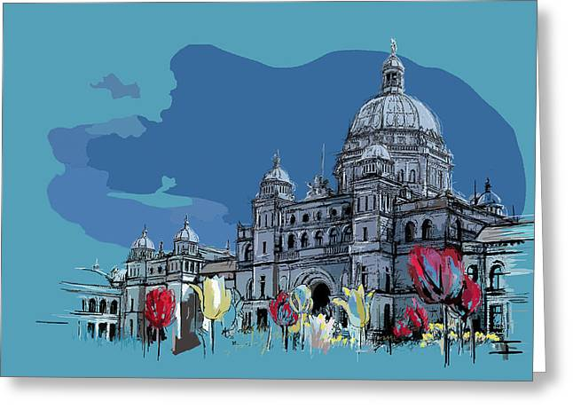 Victoria Art 007 Greeting Card by Catf