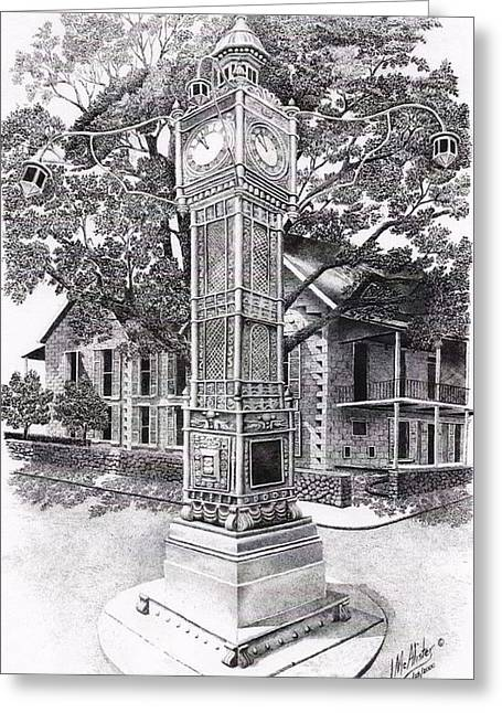 Victoria Clock Tower Greeting Card by Jimmy McAlister