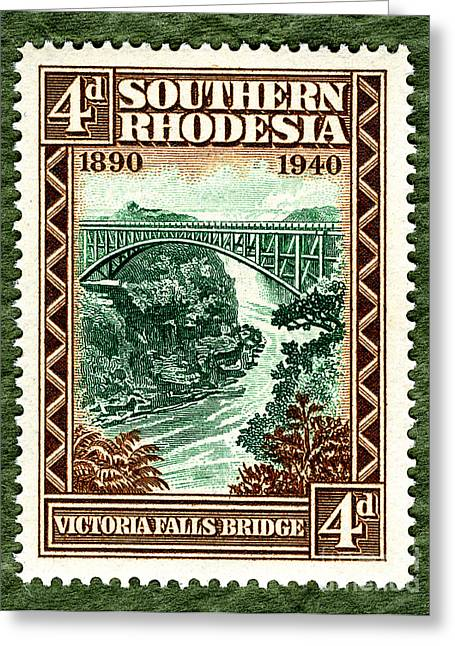Zimbabwe Greeting Cards - Victoria Falls Bridge - 4d ED Greeting Card by Outpost Imagery
