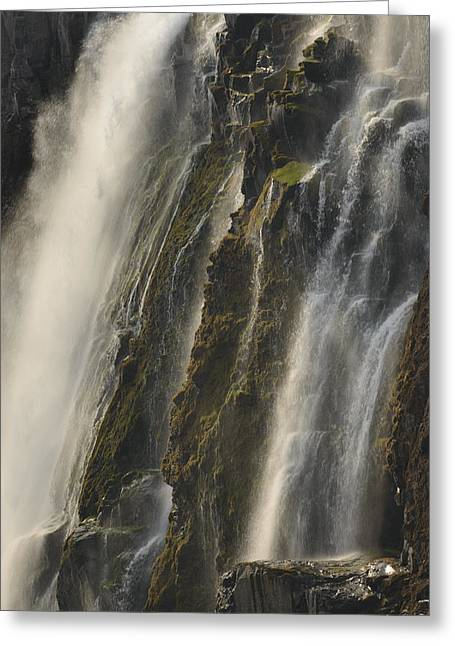 Zambia Waterfall Greeting Cards - Victoria Falls Dry Season Zambia Greeting Card by Ch
