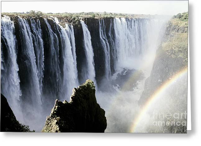 Zimbabwe Greeting Cards - Victoria Falls Greeting Card by Gregory G. Dimijian, M.D.