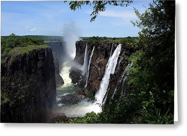 Zambezi River Greeting Cards - Victoria Falls - Southern Africa Greeting Card by Aidan Moran