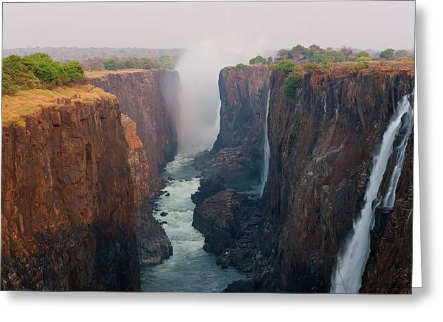 Victoria Falls, Zambia Greeting Card by Peter Adams