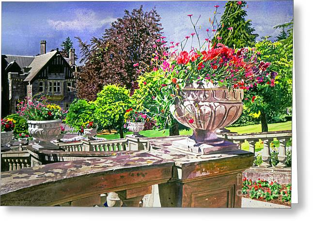Victoria - Hatley Castle Greeting Card by David Lloyd Glover