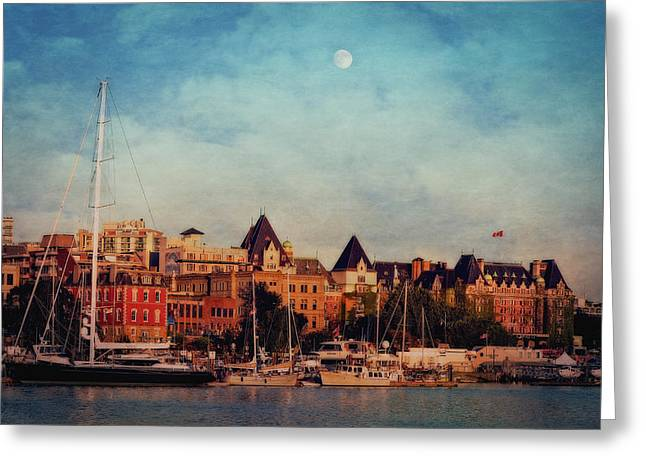 Victoria Historic Buildings  Greeting Card by Maria Angelica Maira