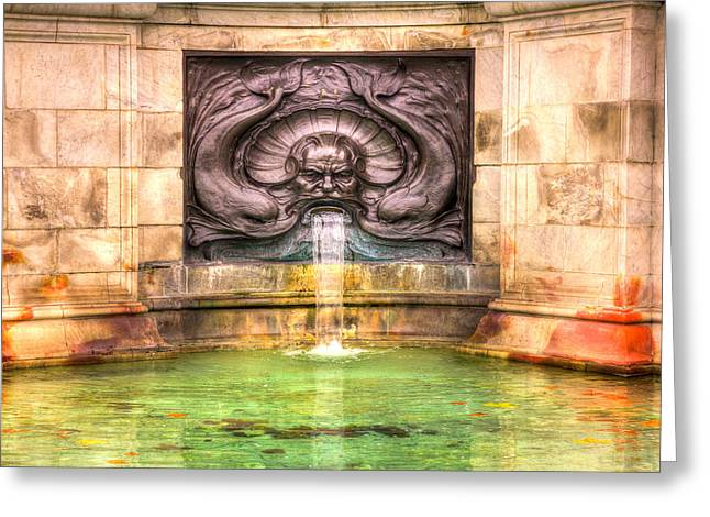 Victoria Memorial Fountain Greeting Card by Pati Photography