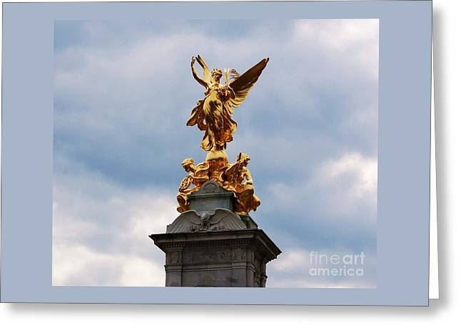 Victoria Memorial Statue London Greeting Card by Courtney Dagan