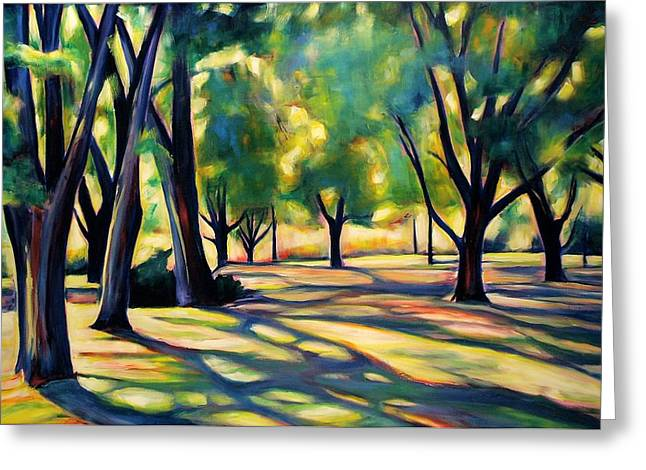 Kitchener Paintings Greeting Cards - Victoria Park Shadows Greeting Card by Sheila Diemert