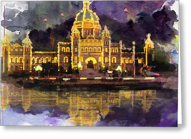 The Church Greeting Cards - Victoria Scenery 6b Greeting Card by Mahnoor Shah