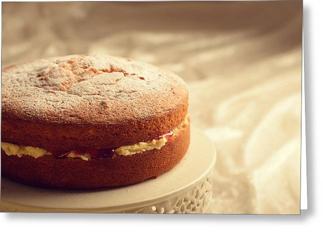 Pounds Greeting Cards - Victoria Sponge Cake Greeting Card by Amanda And Christopher Elwell