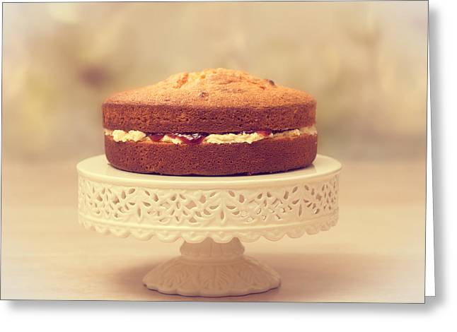 Victoria Greeting Cards - Victoria Sponge Greeting Card by Amanda And Christopher Elwell