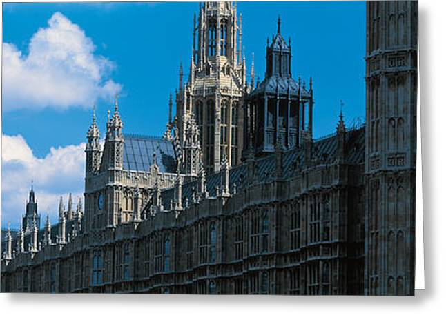 Victoria Day Greeting Cards - Victoria Tower & Big Ben London England Greeting Card by Panoramic Images