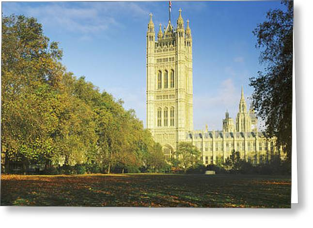 Victoria Day Greeting Cards - Victoria Tower At A Government Greeting Card by Panoramic Images