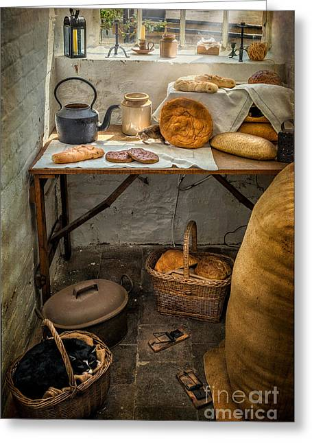 Mouse Greeting Cards - Victorian Bakers Greeting Card by Adrian Evans