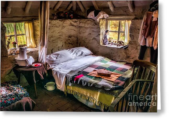Stones Digital Art Greeting Cards - Victorian Bedroom Greeting Card by Adrian Evans