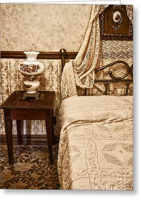 Bedspread Greeting Cards - Victorian Bedroom Greeting Card by Margie Hurwich