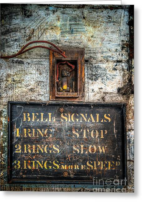 Switches Greeting Cards - Victorian Bell Sign Greeting Card by Adrian Evans