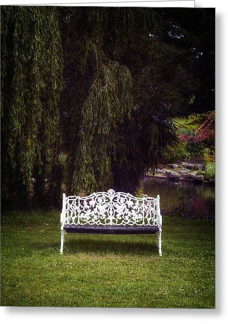 Park Benches Greeting Cards - Victorian Bench Greeting Card by Joana Kruse