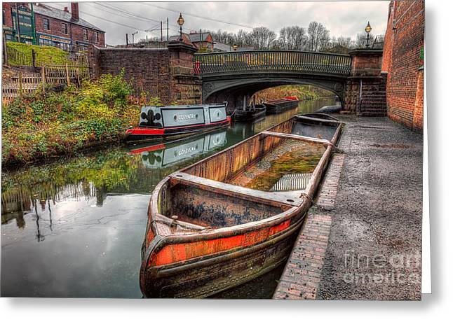 Signed Digital Greeting Cards - Victorian Canal Greeting Card by Adrian Evans
