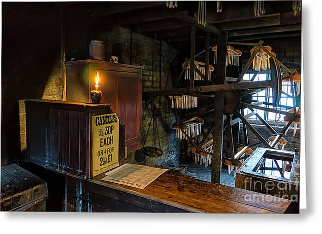 Victorian Candle Factory Greeting Card by Adrian Evans