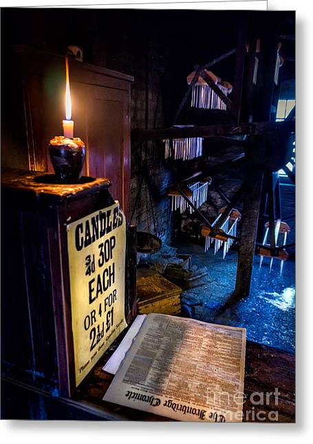 Maker Greeting Cards - Victorian Candle Shop Greeting Card by Adrian Evans