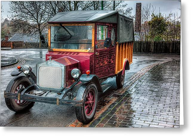 Bricks Greeting Cards - Victorian Car Replica  Greeting Card by Adrian Evans