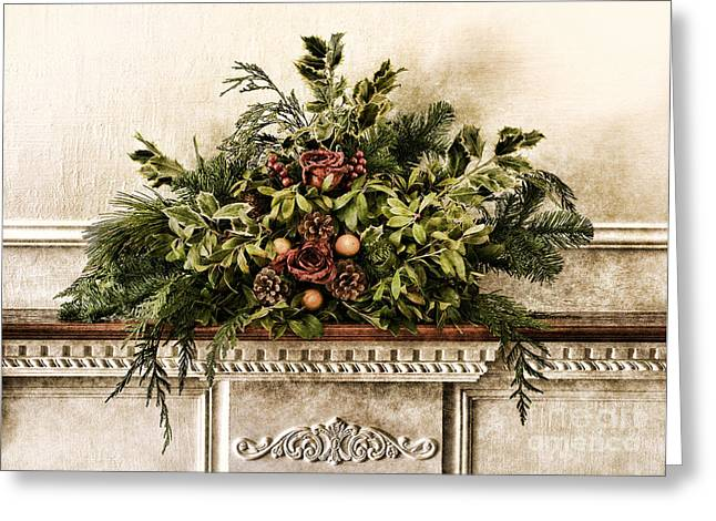 Victorian Home Greeting Cards - Victorian Christmas Greeting Card by Olivier Le Queinec