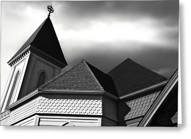 Larry Butterworth Greeting Cards - Victorian Church Greeting Card by Larry Butterworth