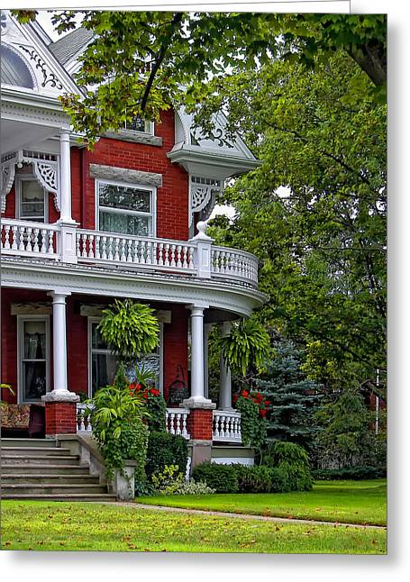 Houses Bed And Breakfast Greeting Cards - Victorian Classic Greeting Card by Steve Harrington