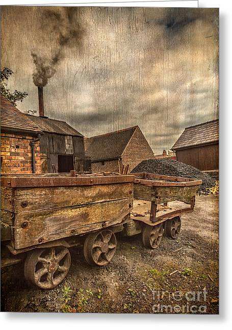 Disused Greeting Cards - Victorian Colliery Greeting Card by Adrian Evans