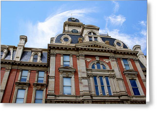 Rural Indiana Digital Art Greeting Cards - Victorian Courthouse Noblesville Indiana Greeting Card by Let Your Dim Light Shine