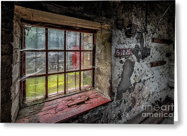 Window Panes Greeting Cards - Victorian Decay Greeting Card by Adrian Evans