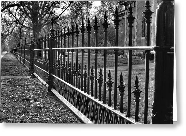 Missouri Photographer Greeting Cards - Victorian Fence Greeting Card by Jane Linders