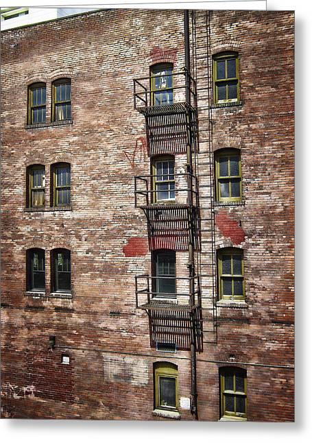 Apt Greeting Cards - Victorian Fire Escape Greeting Card by Daniel Hagerman