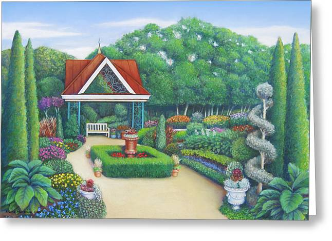 Sand Art Pastels Greeting Cards - Victorian Garden Greeting Card by Bruce MacBride