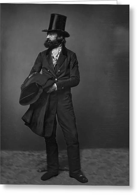 British Portraits Digital Art Greeting Cards - VICTORIAN GENTLEMAN WILLIAM SIDNEY MOUNT c. 1853 Greeting Card by Daniel Hagerman