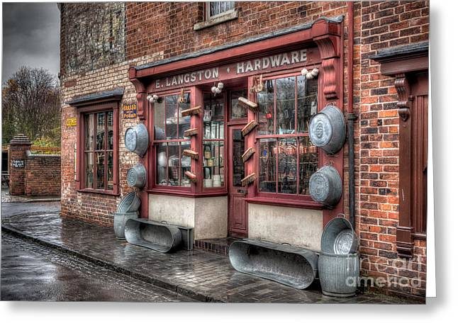 Black Country Greeting Cards - Victorian Hardware Store Greeting Card by Adrian Evans